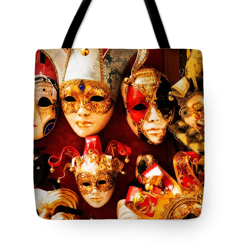 Venice Tote Bag featuring the photograph Faces Of Carnavale by Mick Burkey