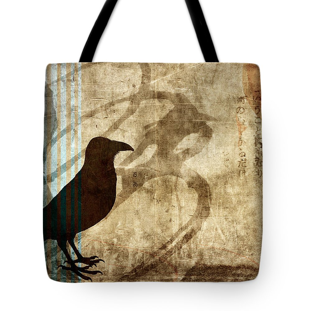 Raven Tote Bag featuring the photograph Facing Future by Carol Leigh