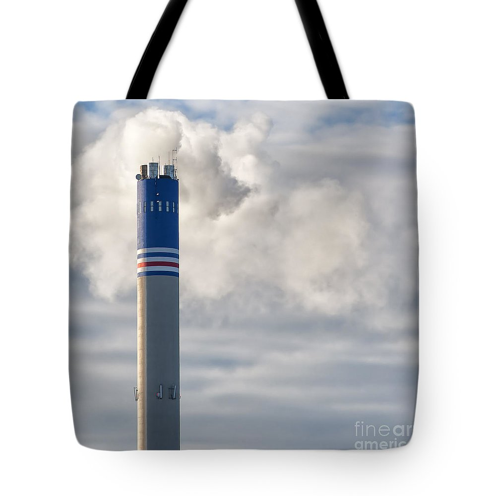 Industry Tote Bag featuring the photograph Factory Funnel by Antony McAulay