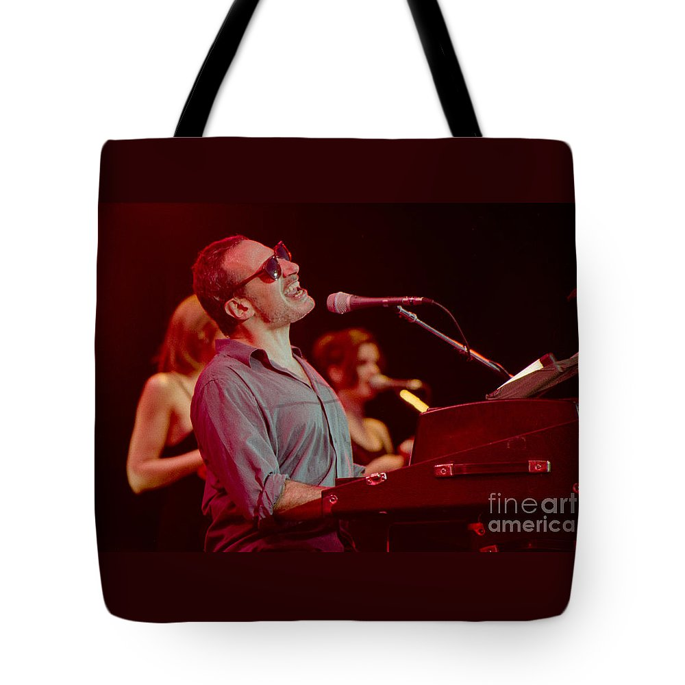 Steely Dan Tote Bag featuring the photograph Donald Fagan-gp07 by Timothy Bischoff
