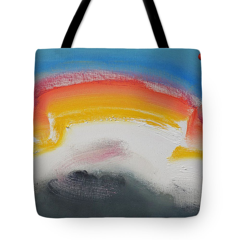 hip Hop Tote Bag featuring the painting Fairground Attraction by Charles Stuart