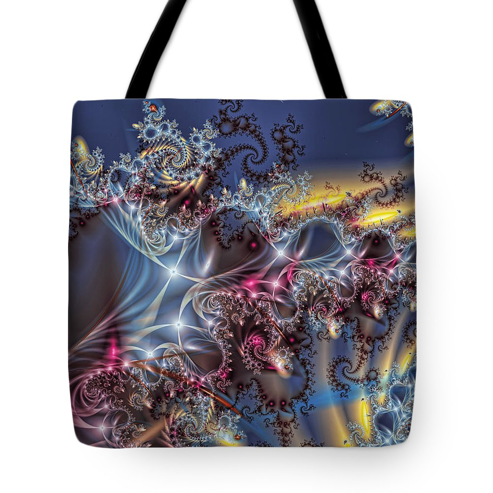 Fractal Tote Bag featuring the digital art Fairy Queen by Mary Almond