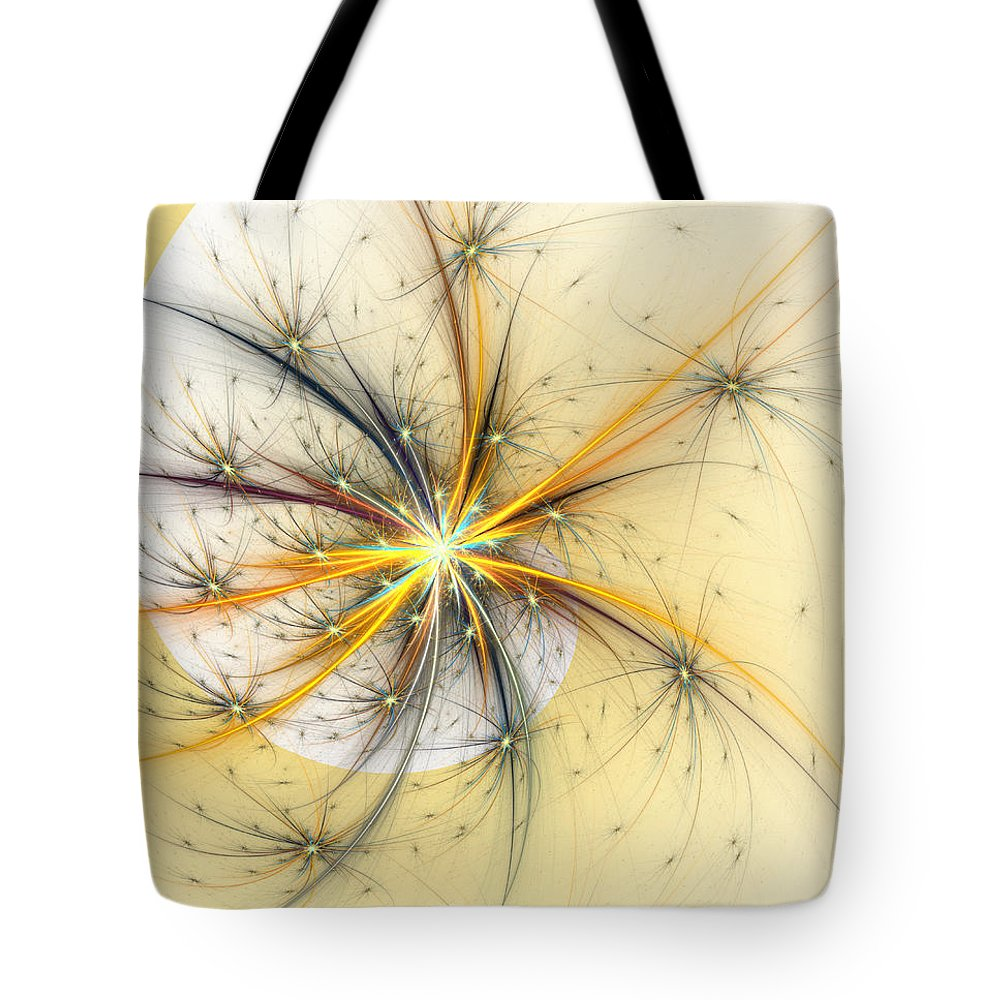 Wish Tote Bag featuring the digital art Fairy Wishes by Kiki Art