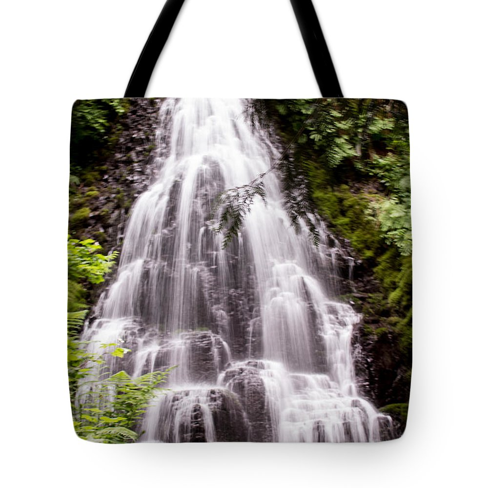 Fairy Falls Tote Bag featuring the photograph Fairy's Playground by Suzanne Luft