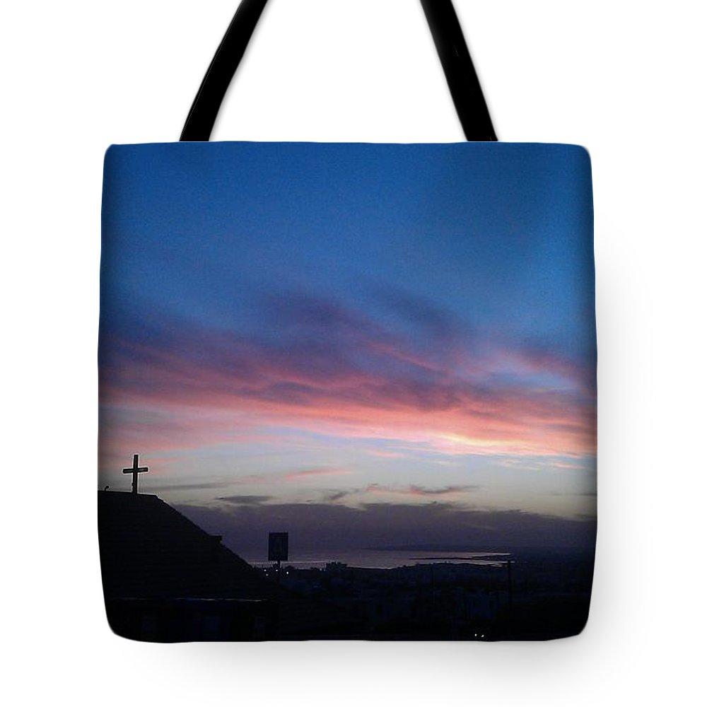 Church Tote Bag featuring the photograph Faith by Catt Kyriacou