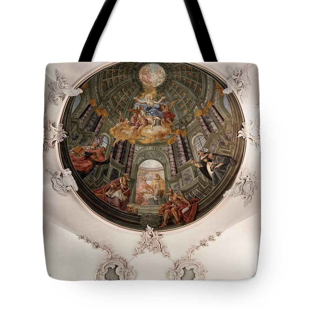Barock Church Ceiling Tote Bag featuring the photograph Fake Dome by Brothers Beerens
