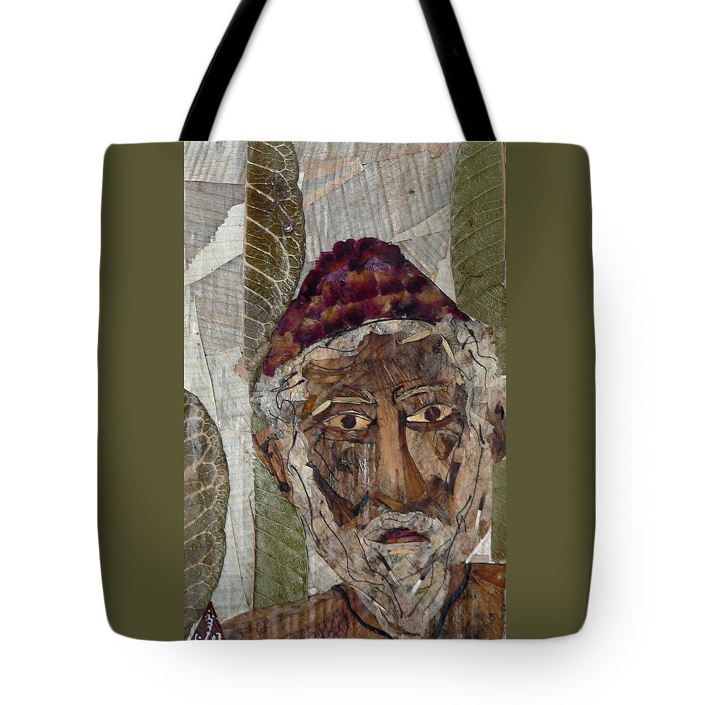 Portrait.holy Person Portrait Tote Bag featuring the mixed media Fakeer by basant Soni