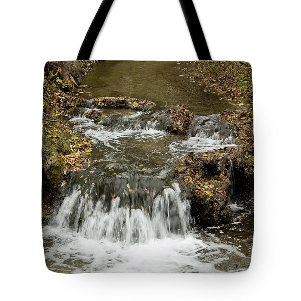 Waterfalls Tote Bag featuring the photograph Fall At The Lower Falls by Lori Tordsen