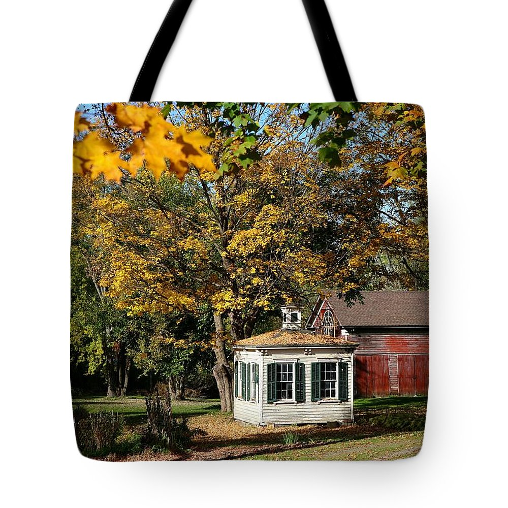 Autumn Tote Bag featuring the photograph Fall Barn by Eric Swan