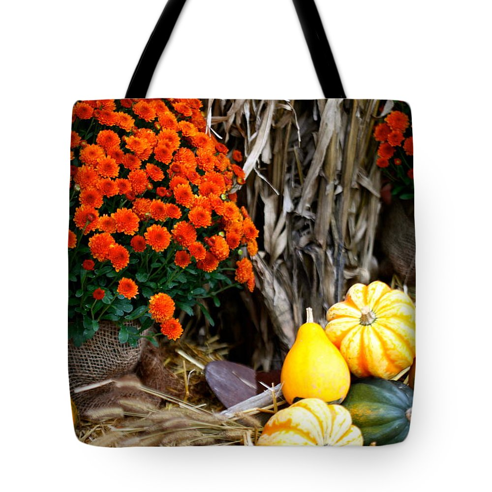 Flowers Tote Bag featuring the photograph Fall Bounty by Nadine Rippelmeyer