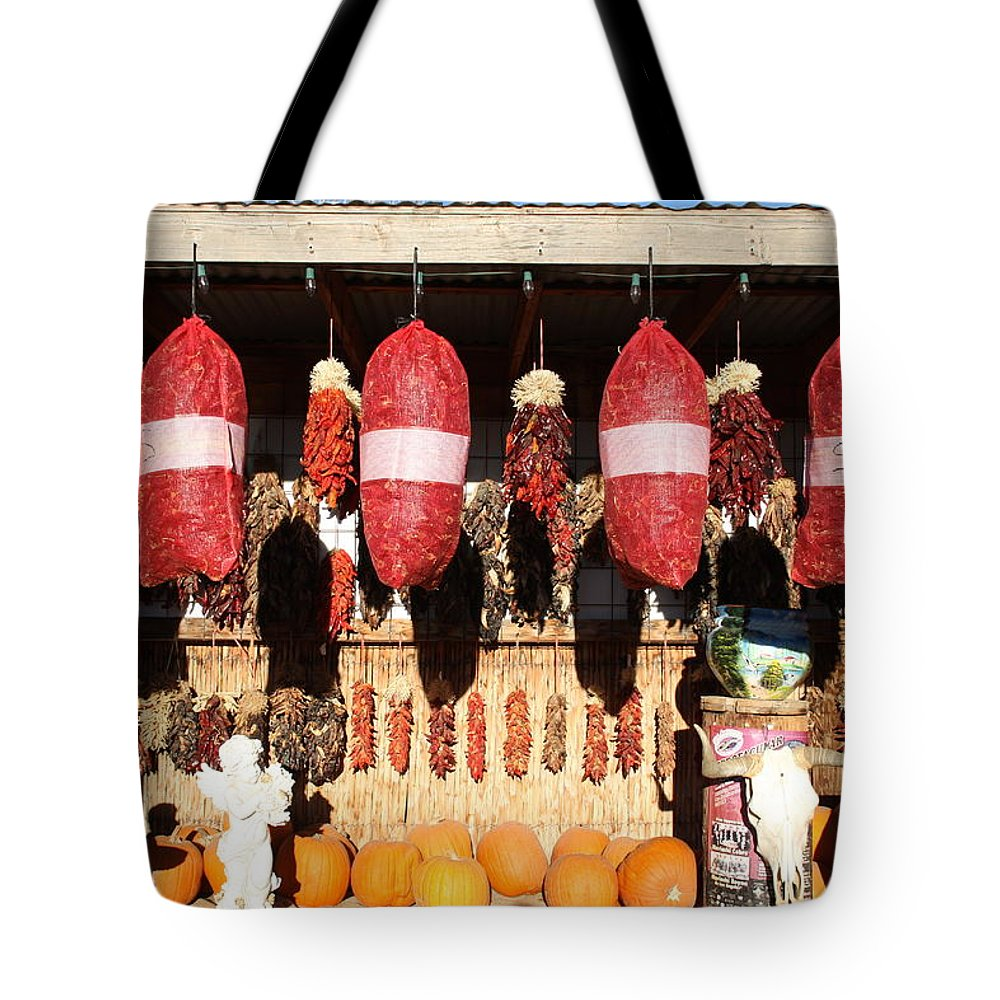 Chilli Tote Bag featuring the photograph Fall Chilli Market by Joseph Schofield