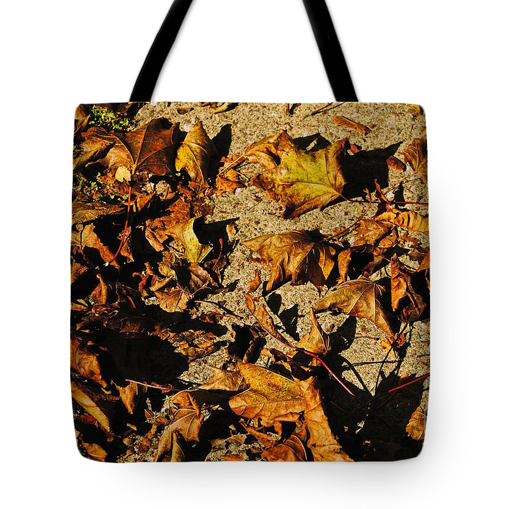 Leaves Tote Bag featuring the photograph Fall Cleanup by William Norton