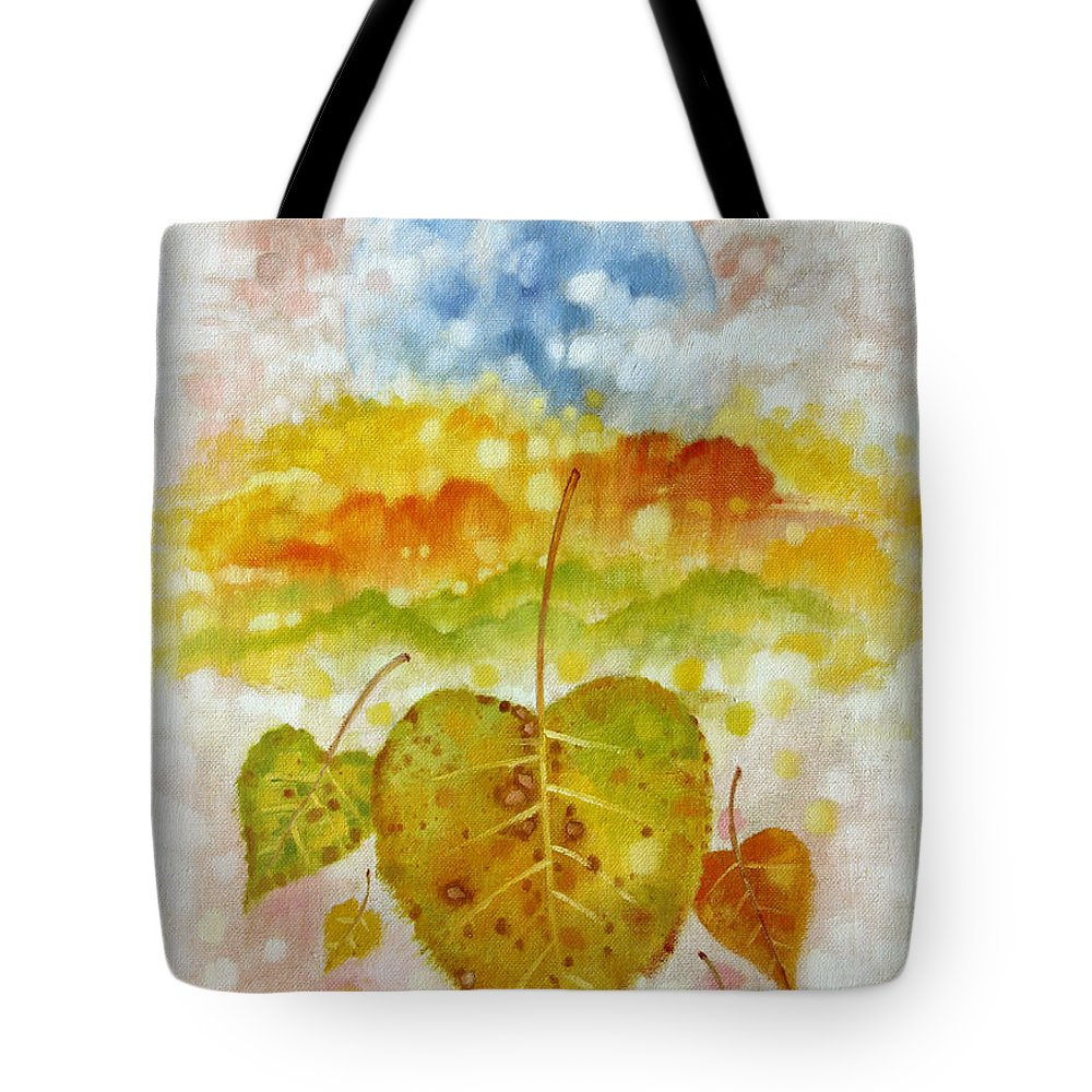 Seasons Tote Bag featuring the painting Fall Cycle by John Lautermilch