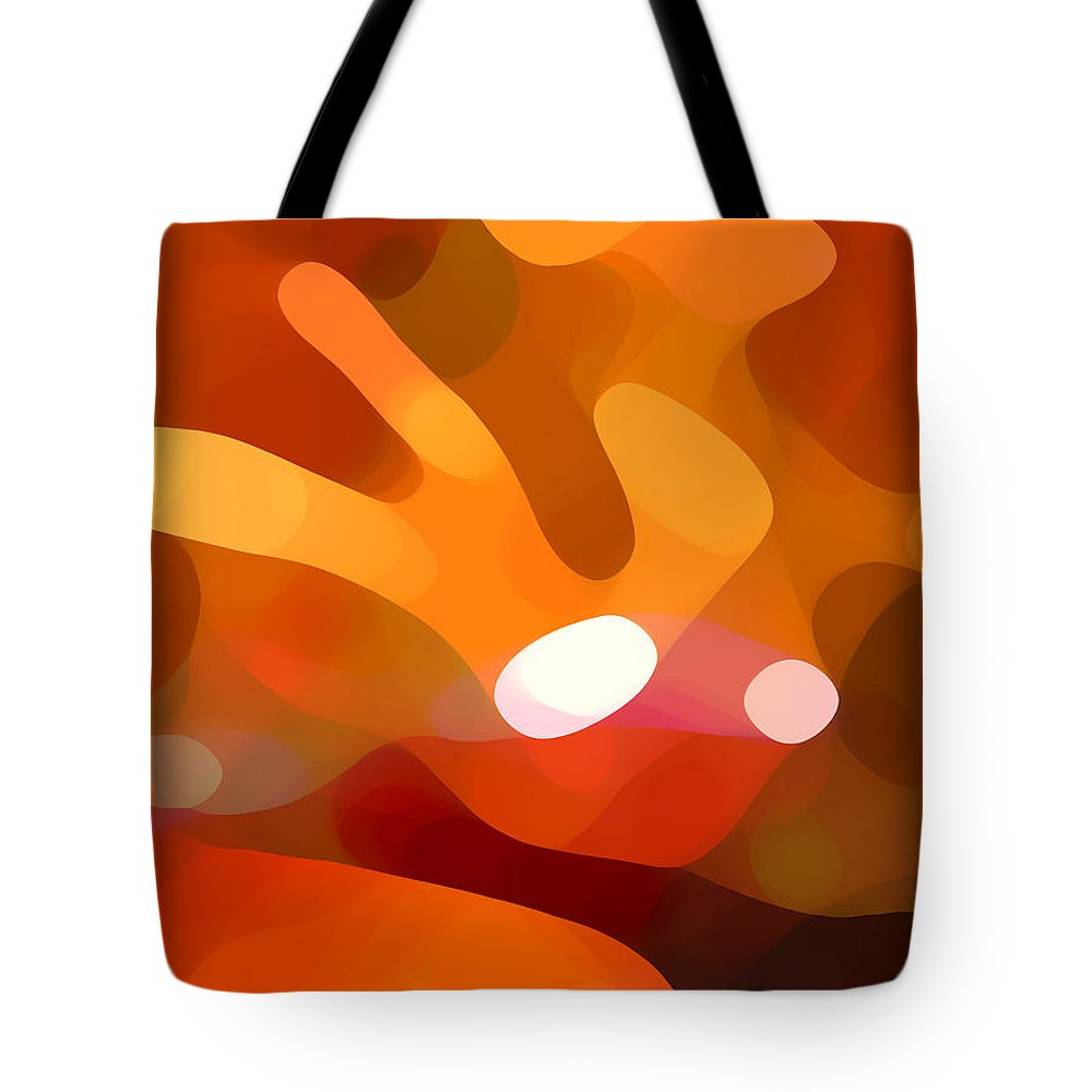 Abstract Tote Bag featuring the painting Fall Day by Amy Vangsgard
