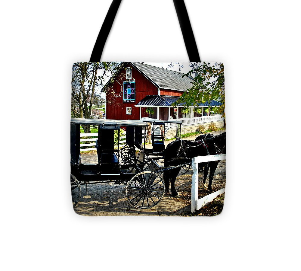 4x6 Tote Bag featuring the photograph Fall Day by Frozen in Time Fine Art Photography