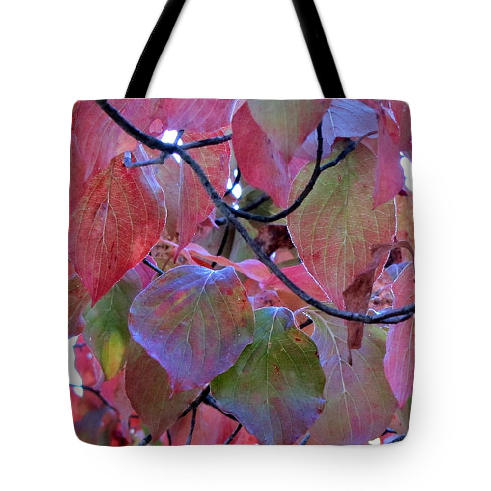 Duane Mccullough Tote Bag featuring the photograph Fall Dogwood Leaf Colors 2 by Duane McCullough