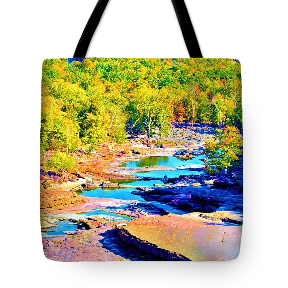 Fine Art Photography Tote Bag featuring the photograph Fall Drought @ Ashokan by Nicholas Costanzo