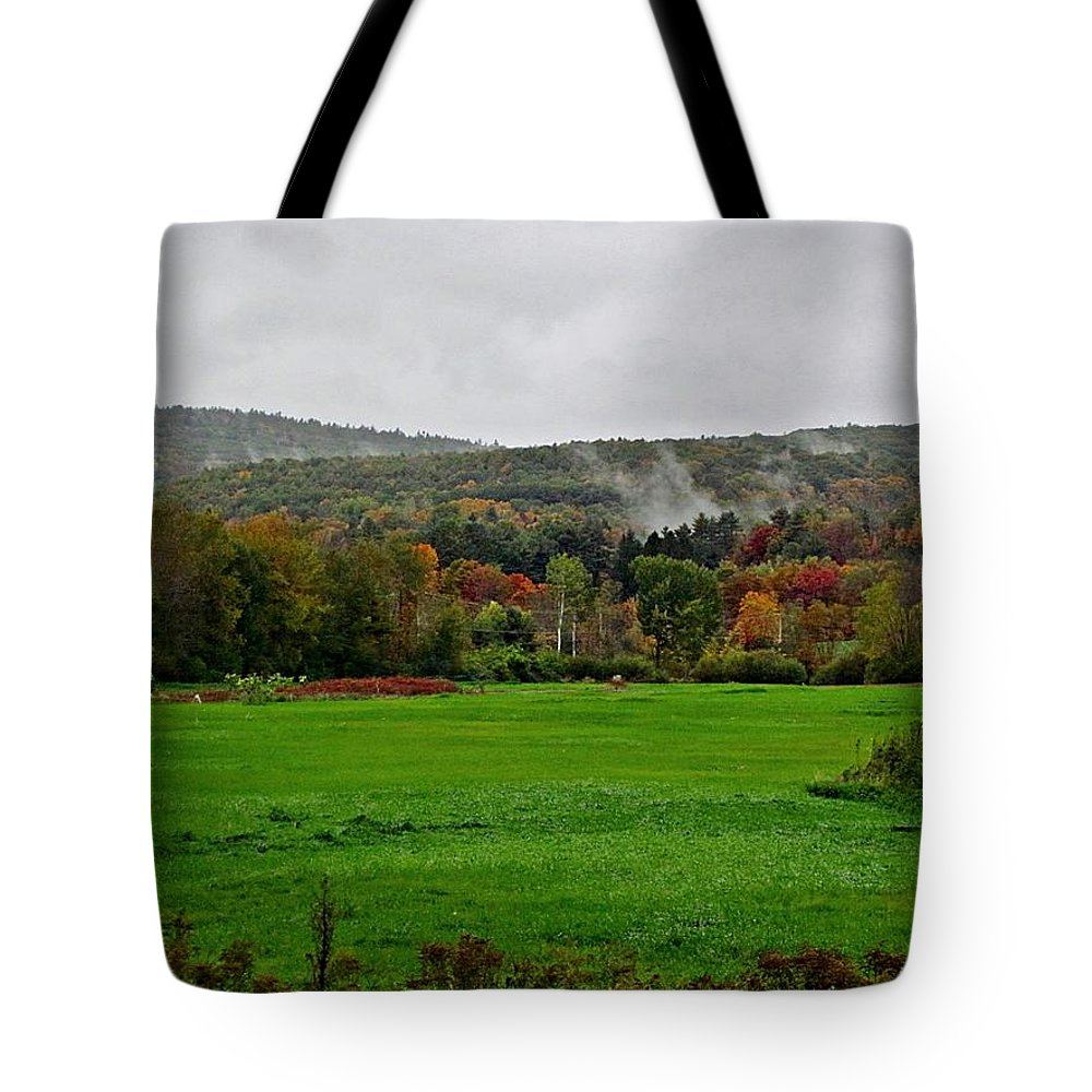 Field Tote Bag featuring the photograph Fall Field by MTBobbins Photography