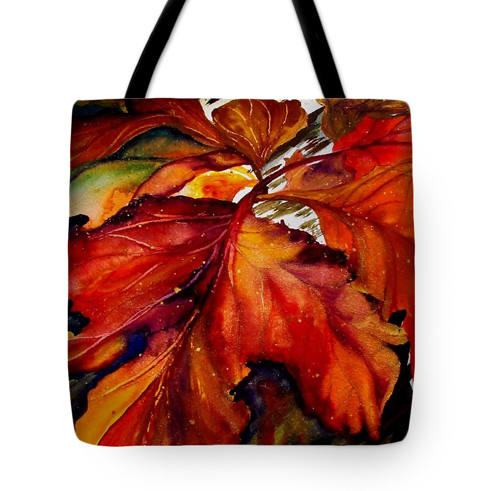 Autumn Tote Bag featuring the painting Autumn Dressage by Lil Taylor