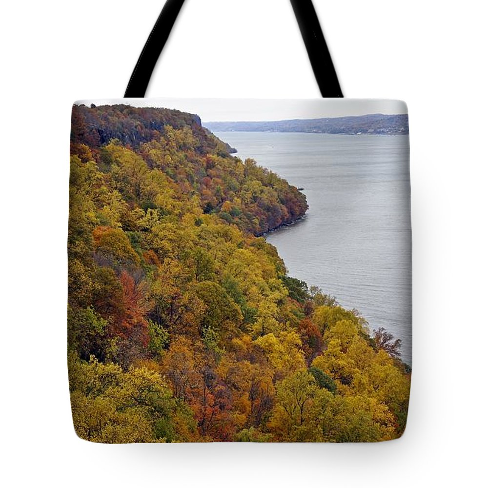 Fall Foliage Tote Bag featuring the photograph Fall Foliage On The New Jersey Palisades II by Lilliana Mendez