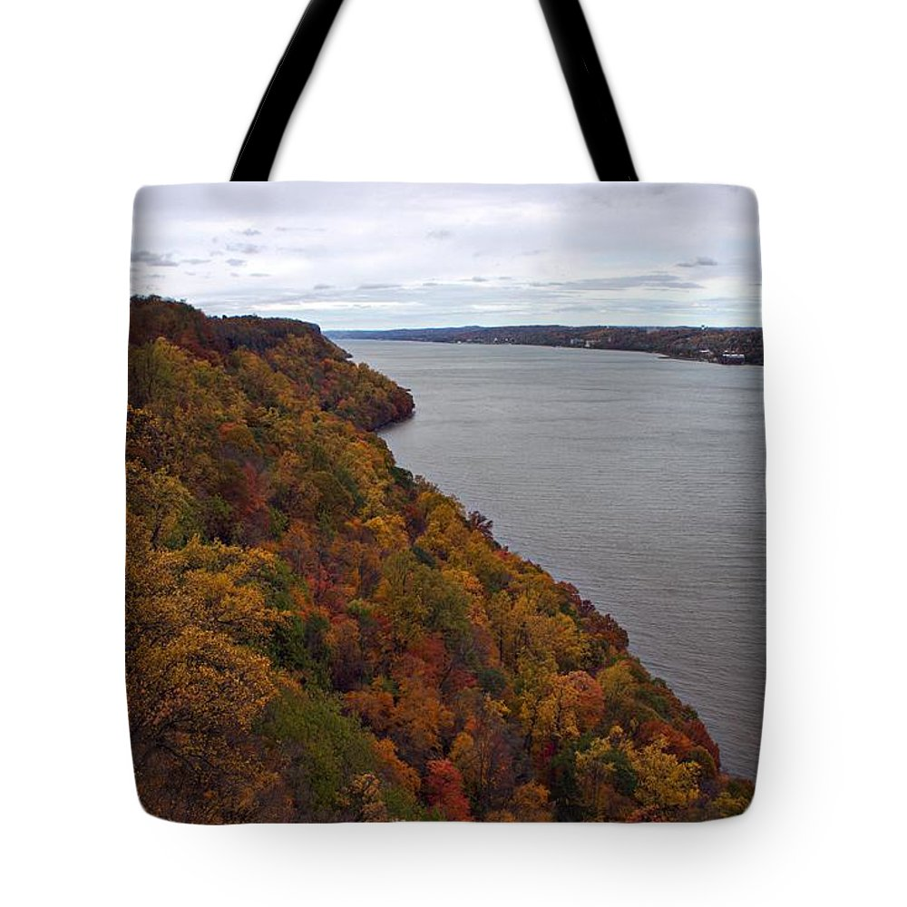 Fall Tote Bag featuring the photograph Fall Foliage On The New Jersey Palisades by Lilliana Mendez