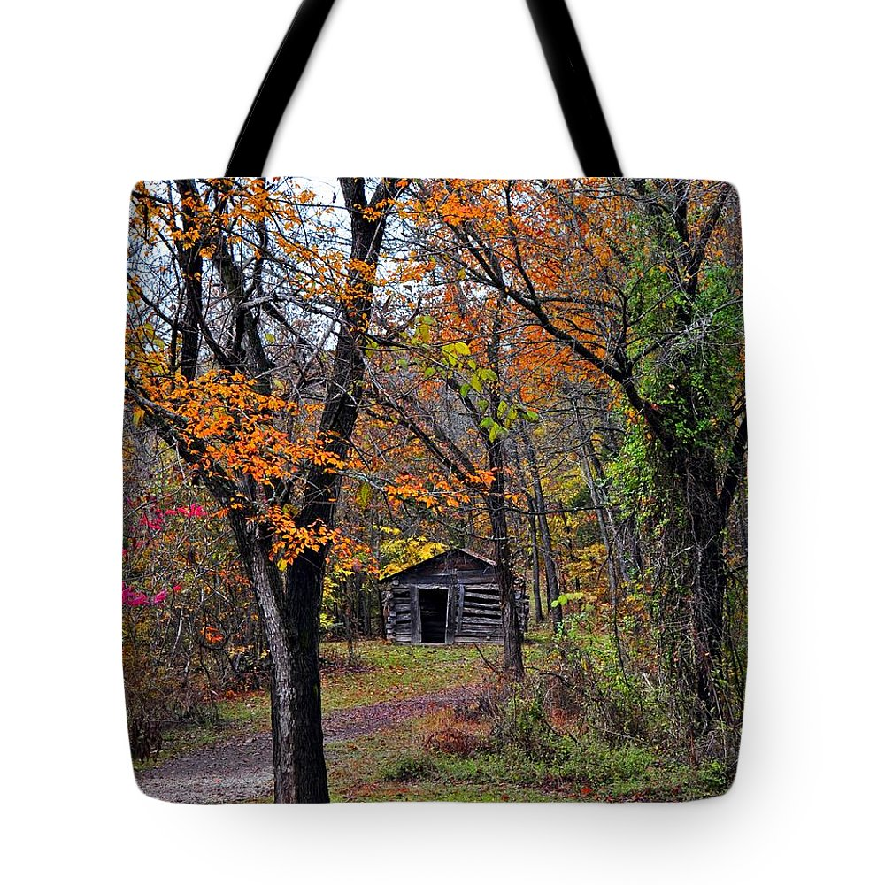 Fall Colors Tote Bag featuring the photograph Fall Homestead by Marty Koch