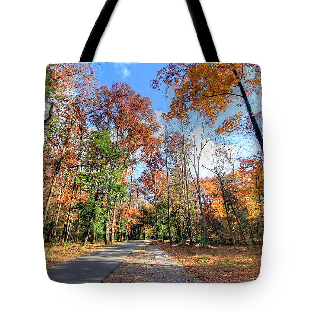 Cades Cove Tote Bag featuring the photograph Fall In Cades Cove by Jackie Novak