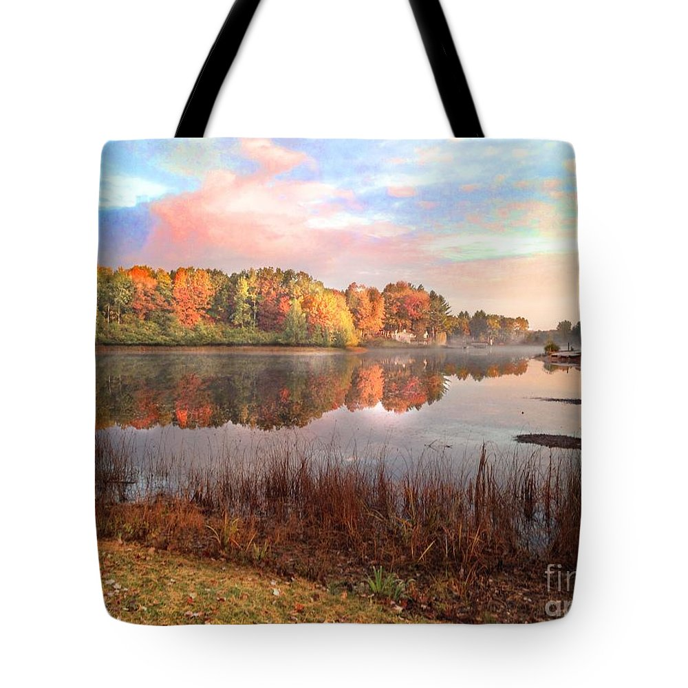 Traverse City Tote Bag featuring the photograph Fall In Traverse City by J S