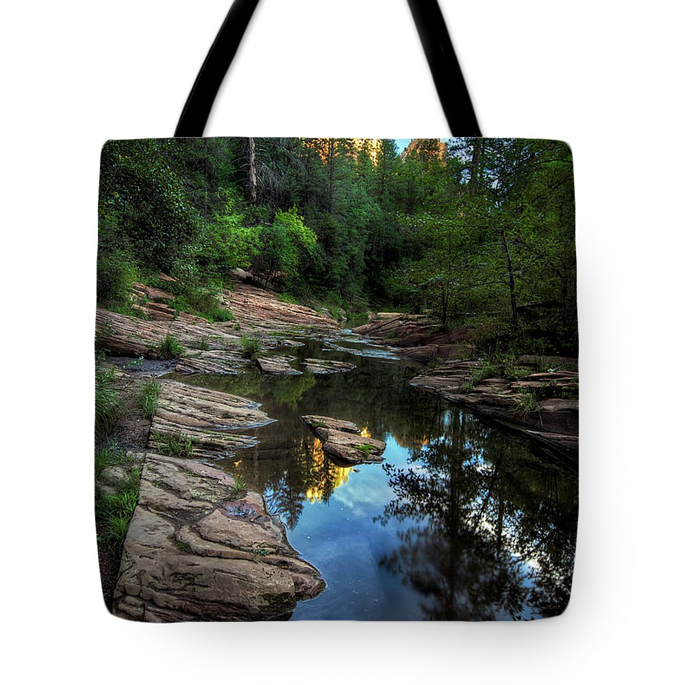 Tranquility Tote Bag featuring the photograph Fall Is Right Around The Corner In by Image By Sean Foster