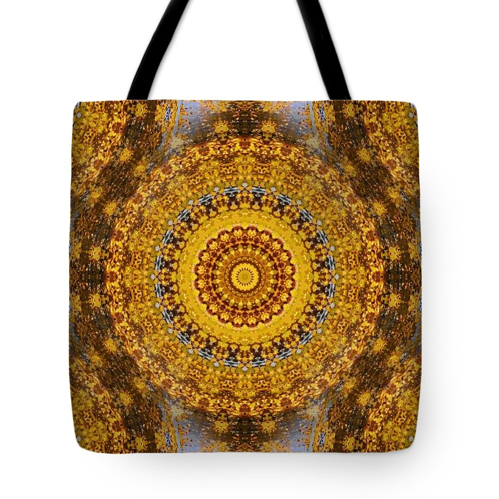 Patterns Tote Bag featuring the digital art Fall Leaf Pattern by Aliceann Carlton