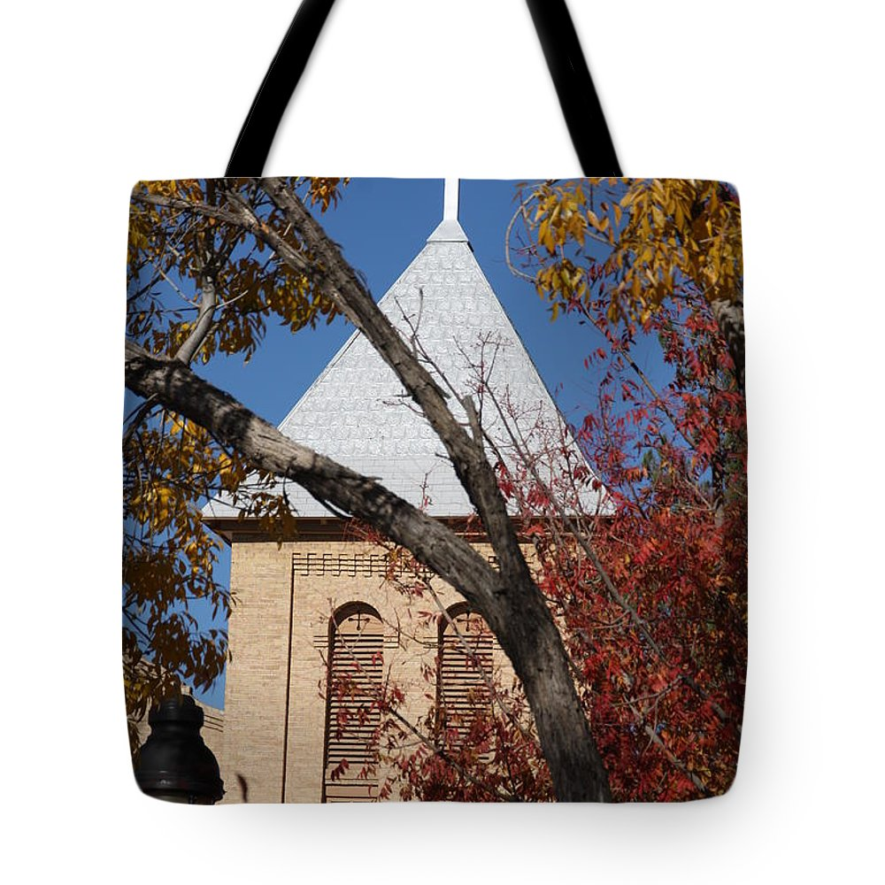 Fall Tote Bag featuring the photograph Fall On Mesilla Plaza by Joseph Schofield