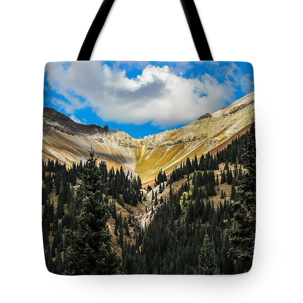 Red Mountain Pass Tote Bag featuring the photograph Fall On Red Mountain Pass by Jeff Stoddart