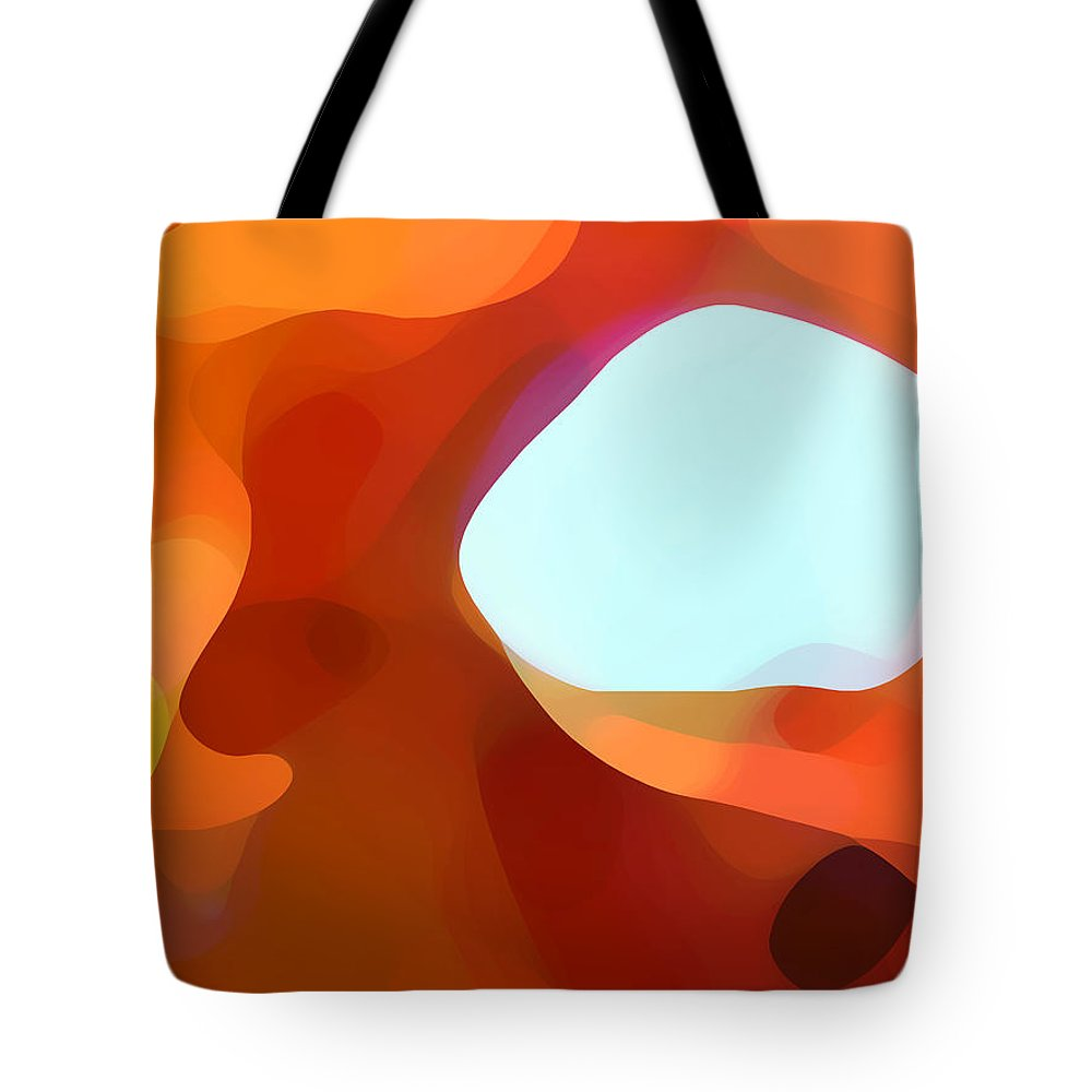 Abstract Tote Bag featuring the painting Fall Passage by Amy Vangsgard