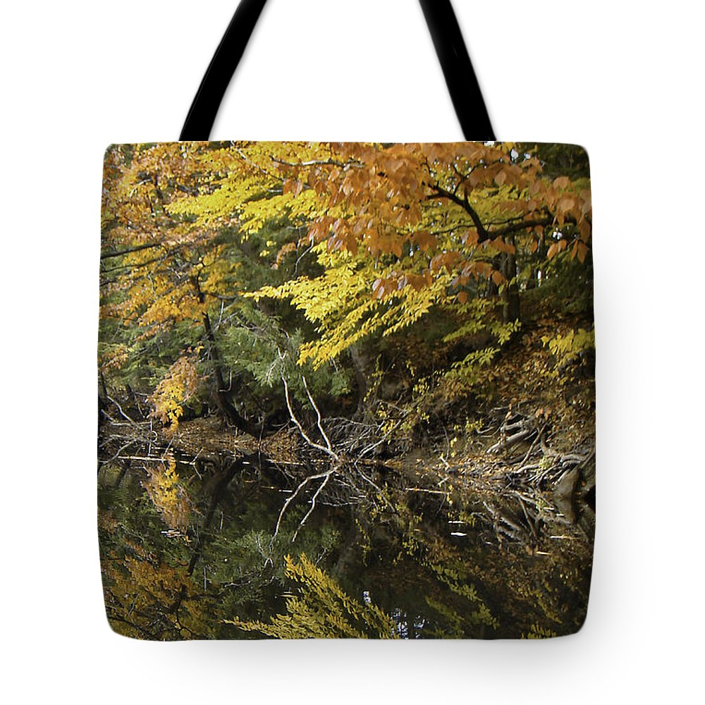 River Tote Bag featuring the photograph Fall Reflections by James Ekstrom