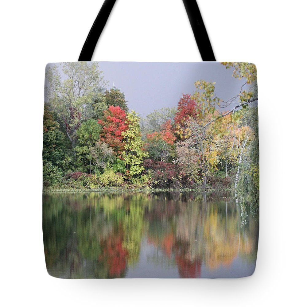 Nature Tote Bag featuring the photograph Fall Reflections by Mike Dickie