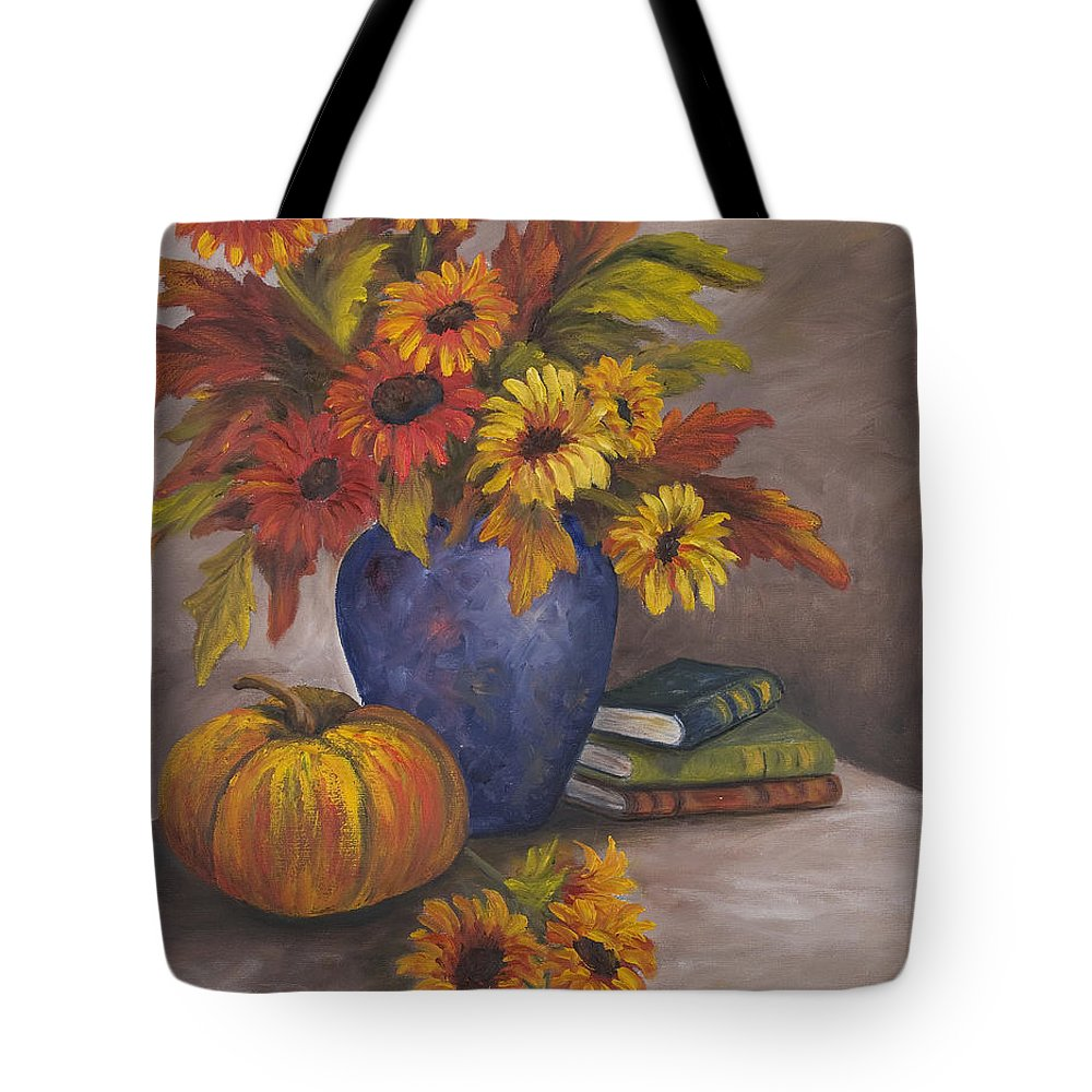 Fall Tote Bag featuring the painting Fall Still Life by Darice Machel McGuire