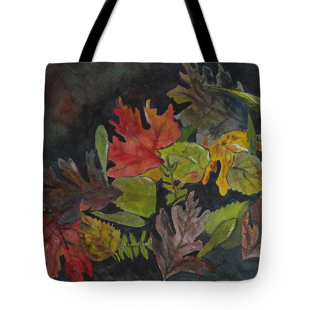 Leaves Tote Bag featuring the painting Fallen Leaves by Betty-Anne McDonald