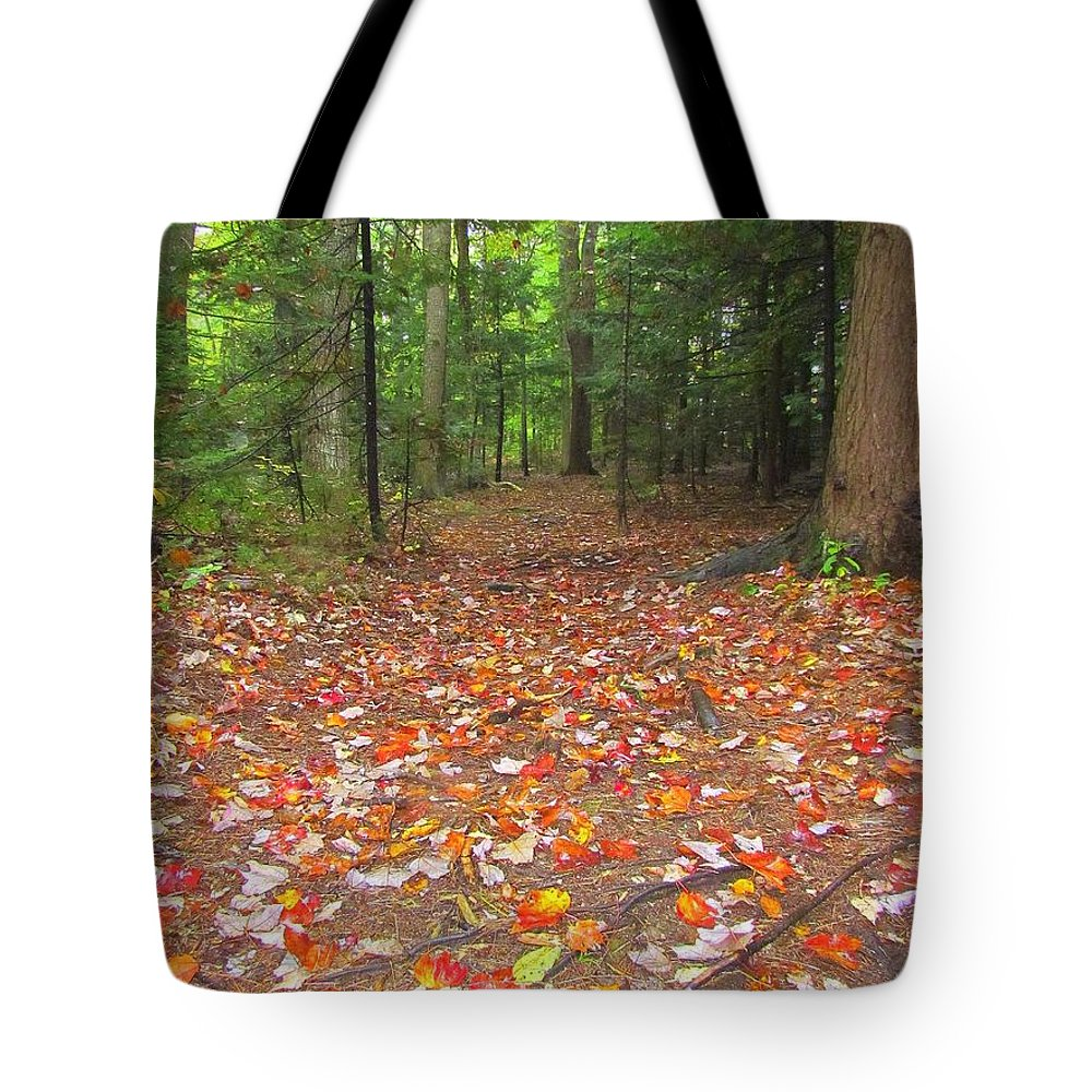 Leaves Tote Bag featuring the photograph Fallen Leaves by Elizabeth Dow