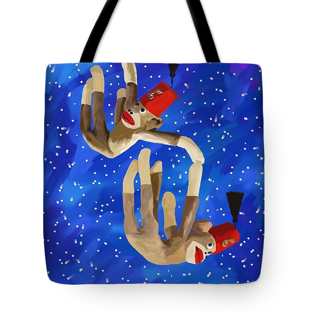 Blue Skies Tote Bag featuring the photograph Falling by Eddy L Barrows