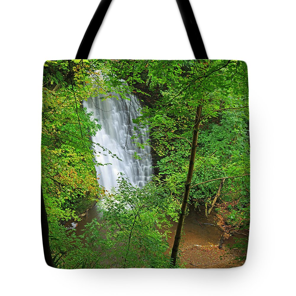 Scenics Tote Bag featuring the photograph Falling Foss, North York Moors National by Louise Heusinkveld