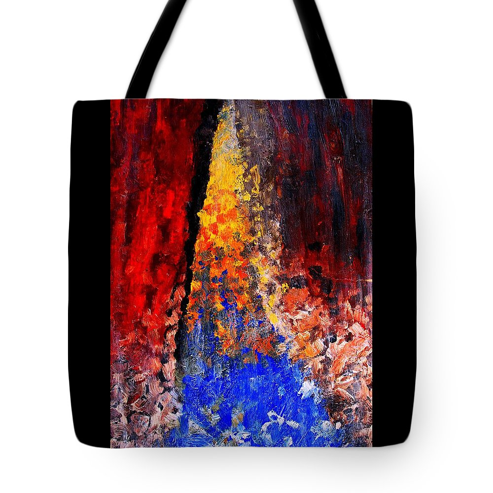 Abstract Tote Bag featuring the painting Falling by Ian MacDonald