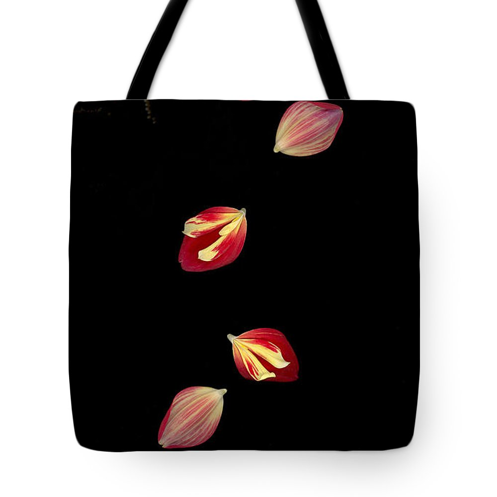 Petal Tote Bag featuring the photograph Falling by Suzanne Gaff