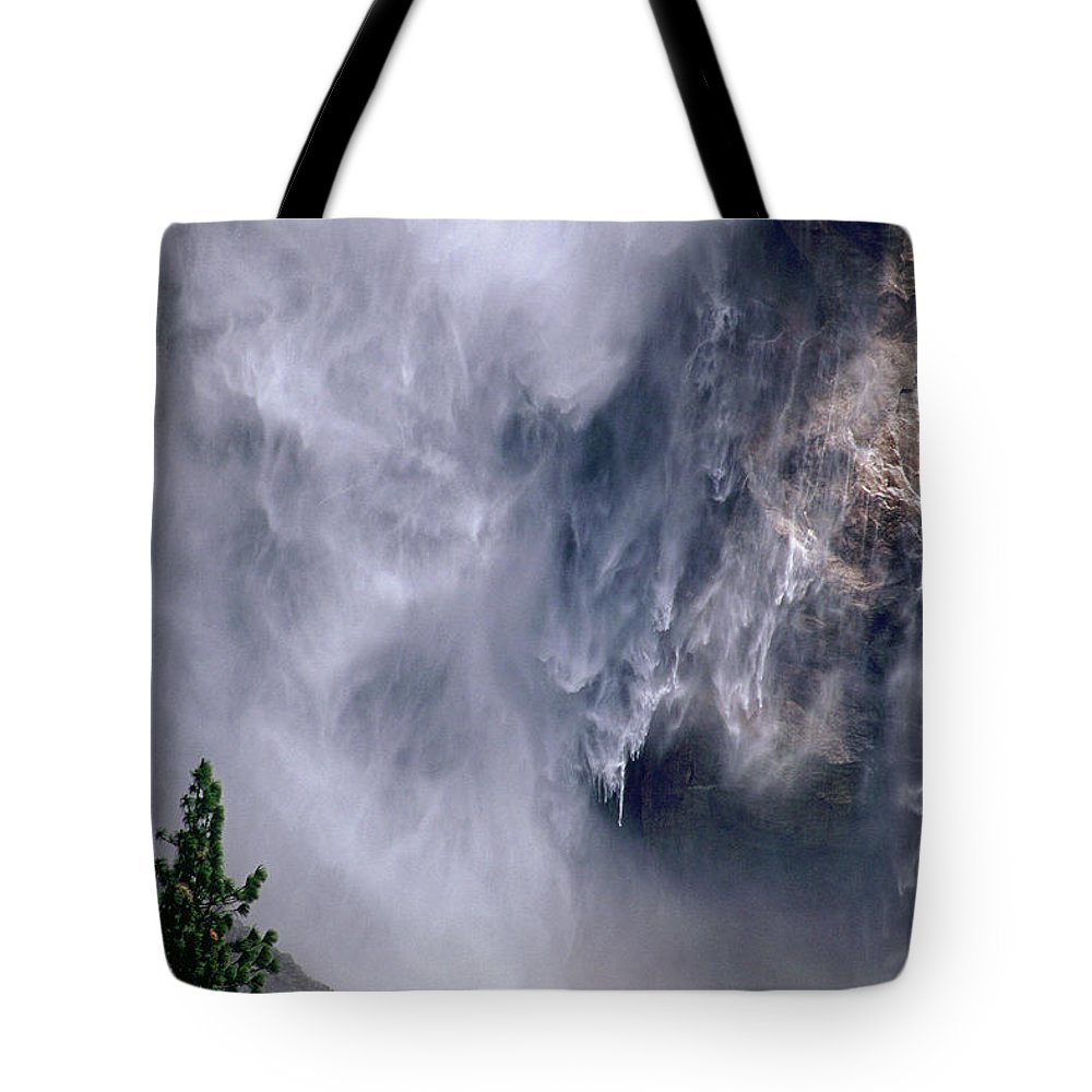Waterfall Tote Bag featuring the photograph Falling Water by Kathy McClure