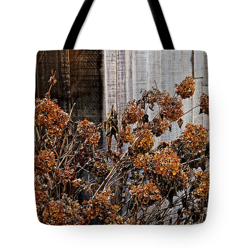 Flowers Tote Bag featuring the photograph Fall's Fleeting Memories by Cathy Shiflett