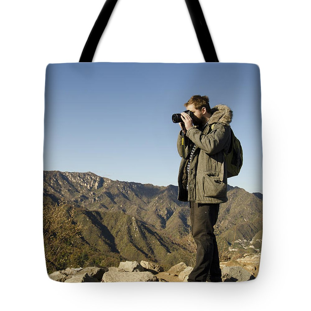 China Landscape Tote Bag featuring the photograph Family On The Great Wall by Terri Winkler
