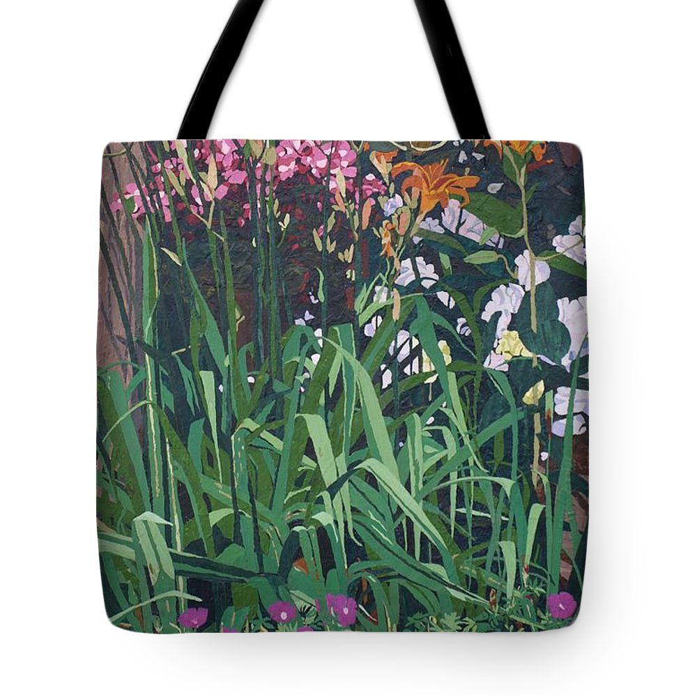 Floral Tote Bag featuring the painting Family Portrait by Leah Tomaino