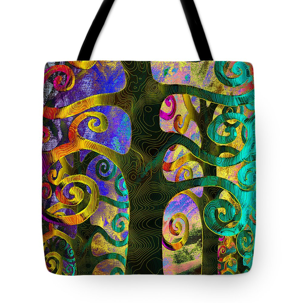 Family Tote Bag featuring the digital art Family Struggle 4 by Angelina Tamez