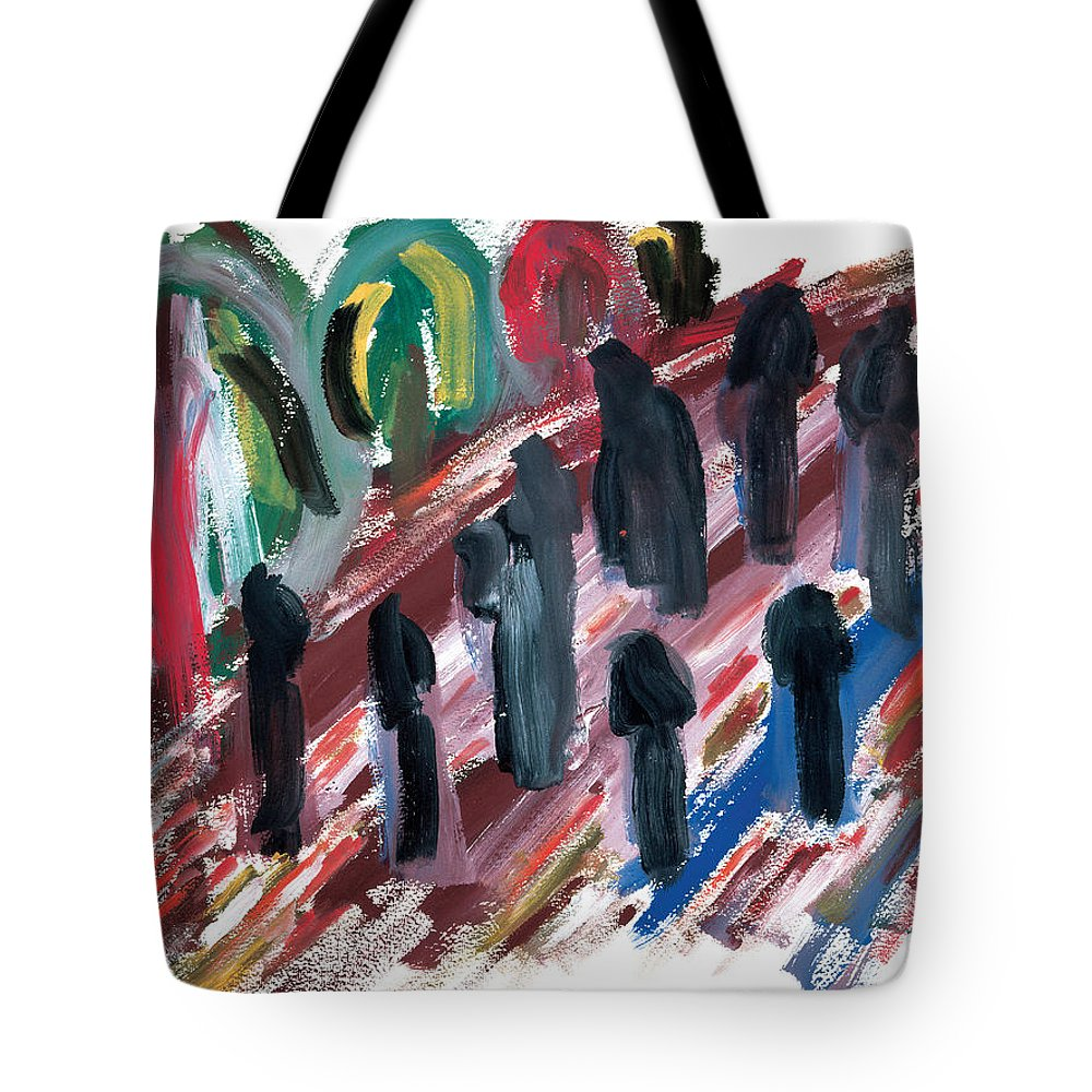 Contemporary Tote Bag featuring the painting Famine by Bjorn Sjogren