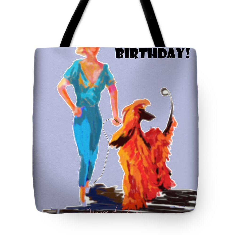 Ipad Finger Painting Tote Bag featuring the painting Fancy by Terry Chacon