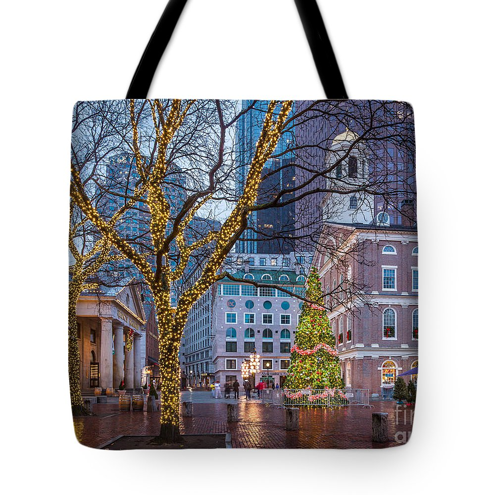 America Tote Bag featuring the photograph Faneuil Hall Holiday by Susan Cole Kelly